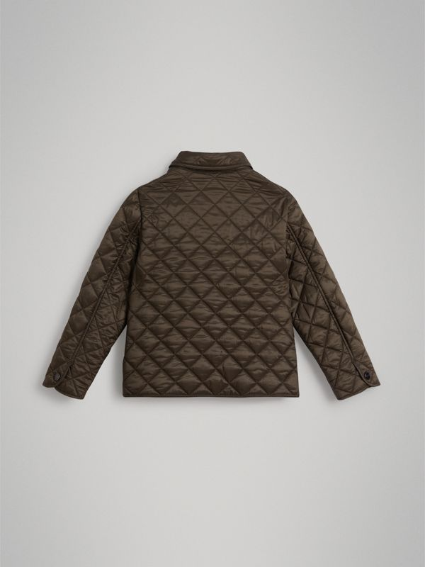 Lightweight Diamond Quilted Jacket in Oregano | Burberry Canada - cell image 3