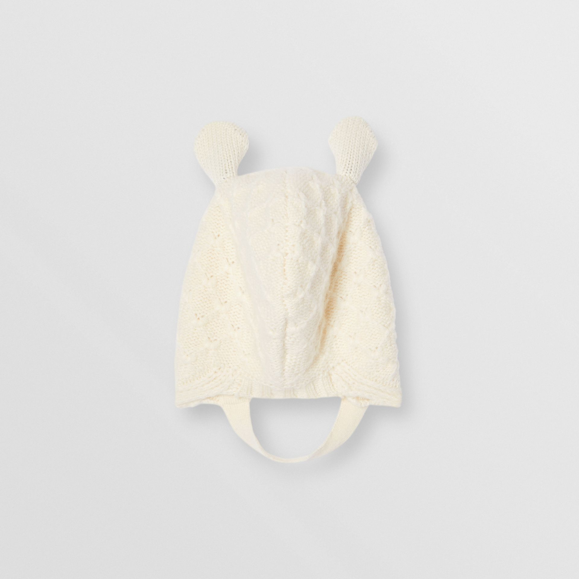 Logo Print Wool Cashmere Six-piece Baby Gift Set in Ivory - Children | Burberry United Kingdom - gallery image 8