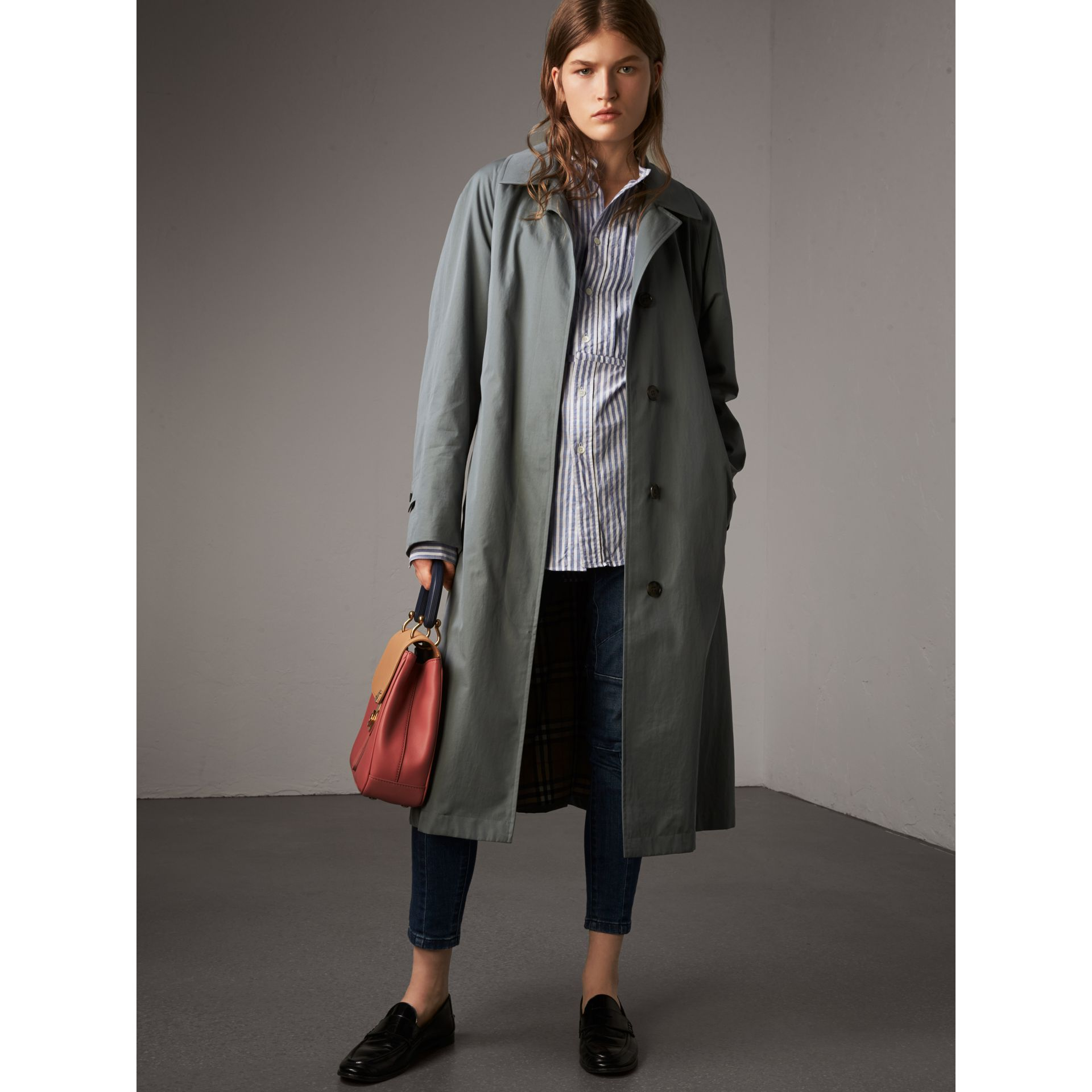 The Brighton – Extra-long Car Coat in Dusty Blue - Women | Burberry - gallery image 1