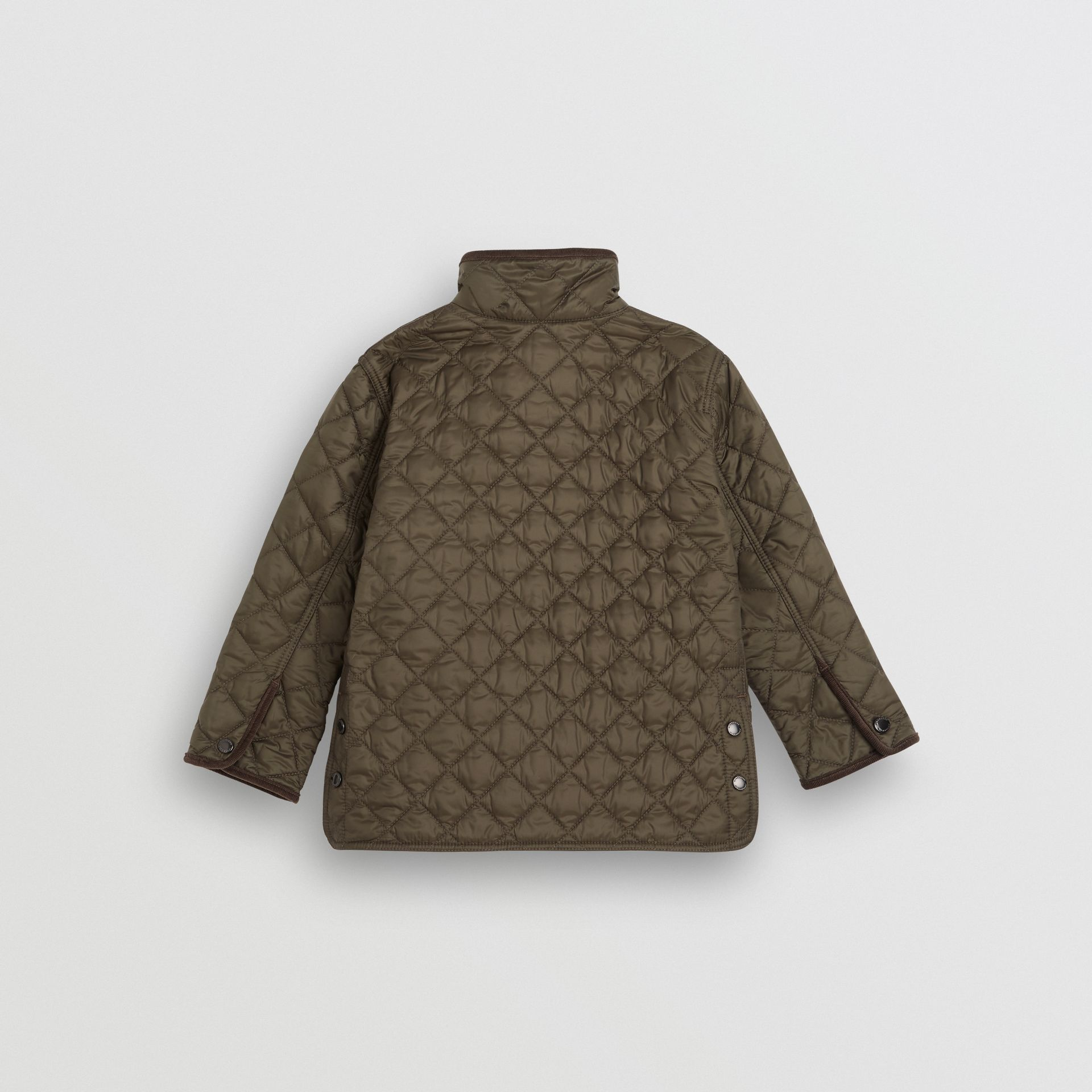 Lightweight Diamond Quilted Jacket in Olive | Burberry Singapore - gallery image 3