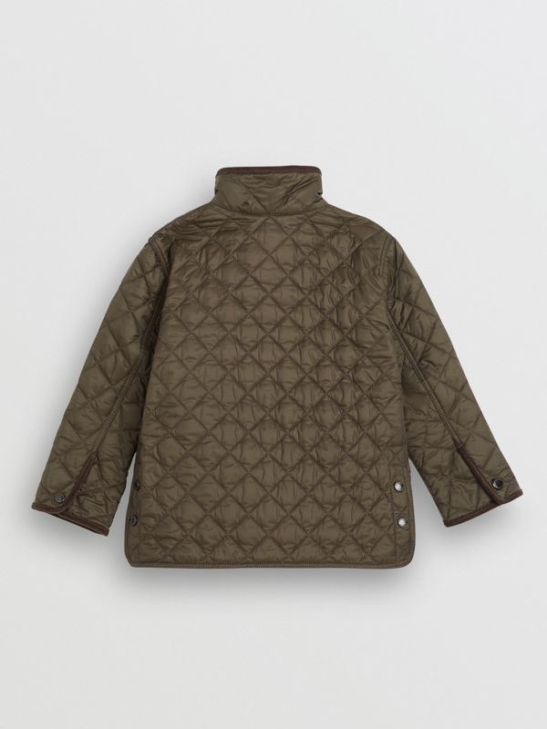 Lightweight Diamond Quilted Jacket in Olive | Burberry Singapore - cell image 3