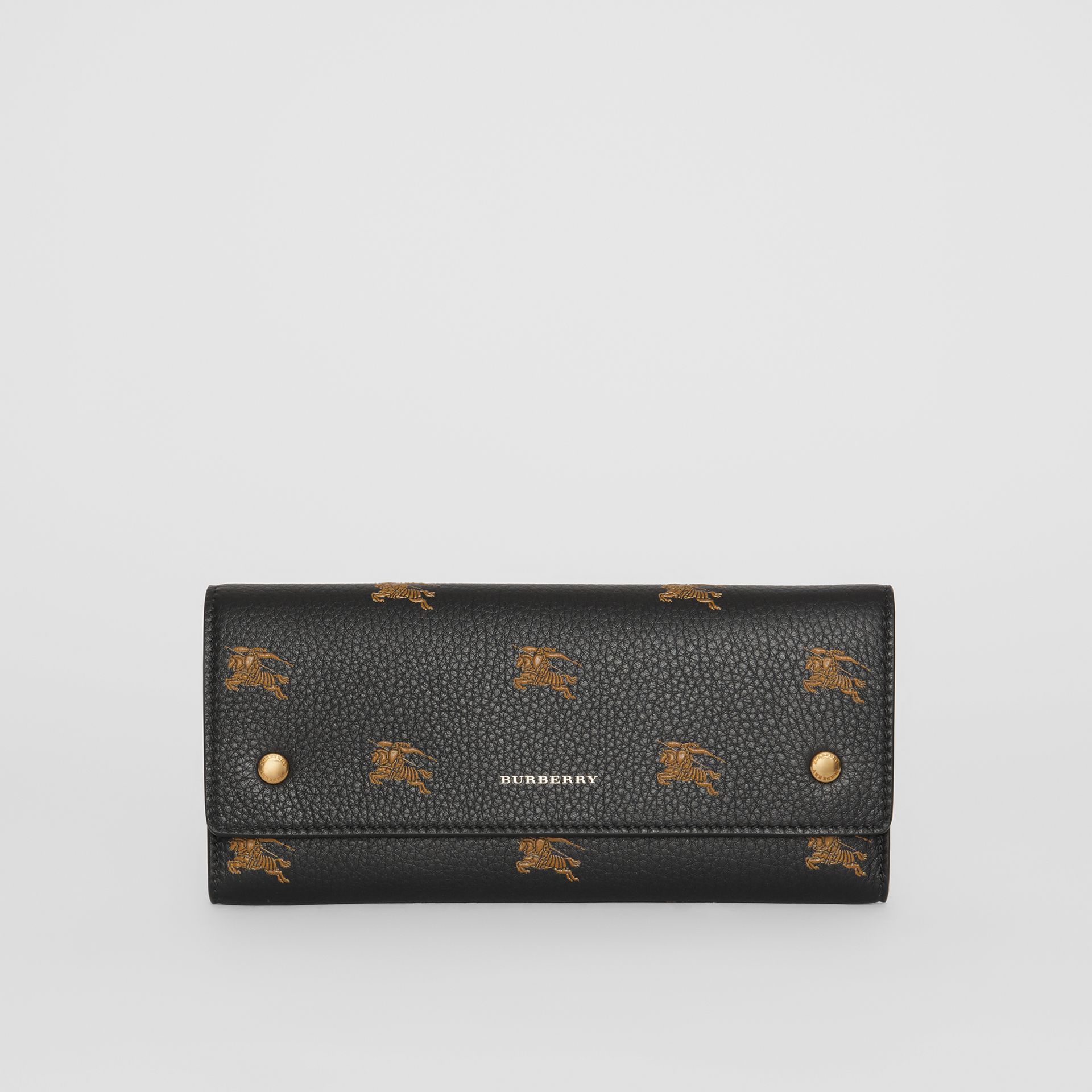 EKD Leather Continental Wallet in Black - Women | Burberry Australia - gallery image 0