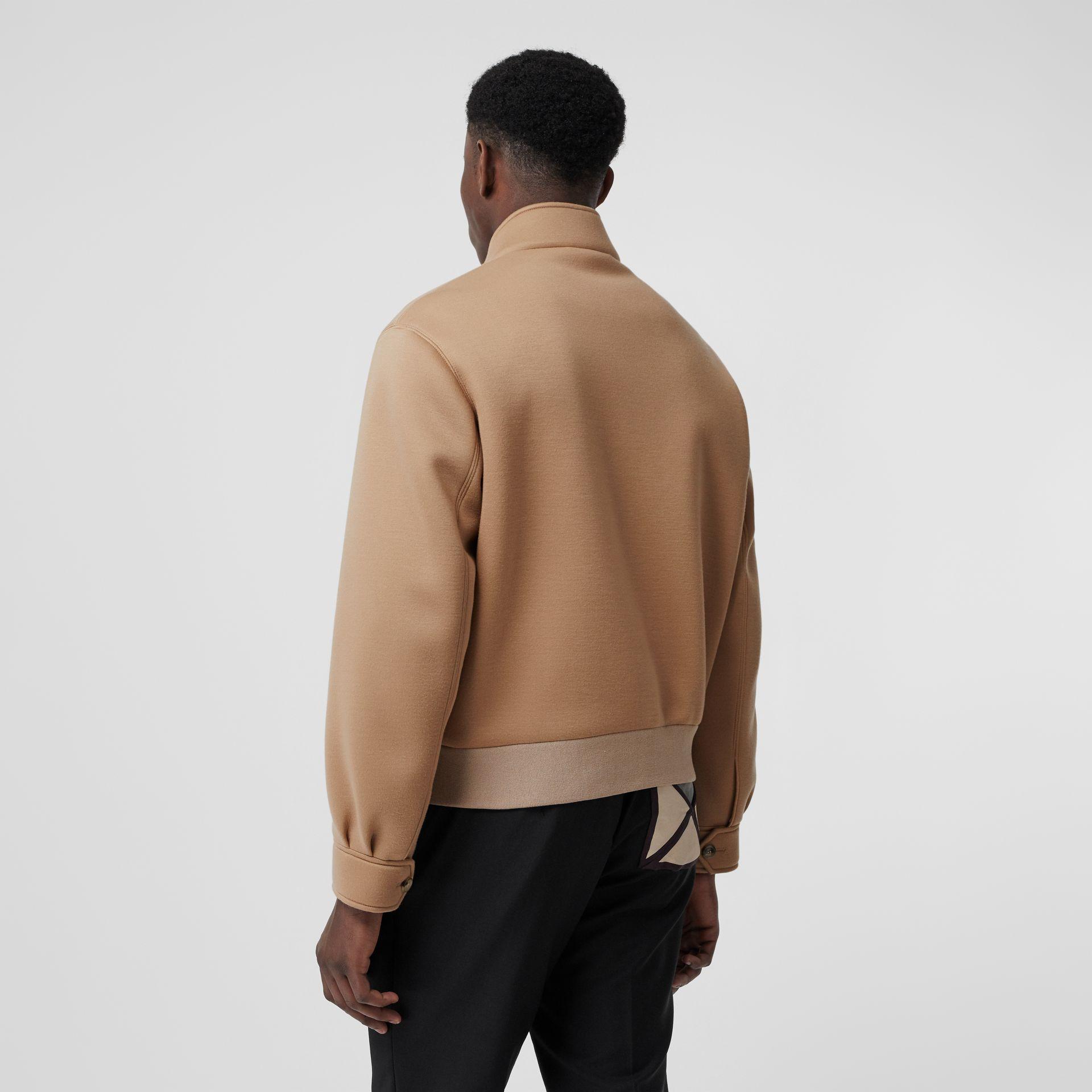 Neoprene Harrington Jacket in Beige | Burberry - gallery image 2