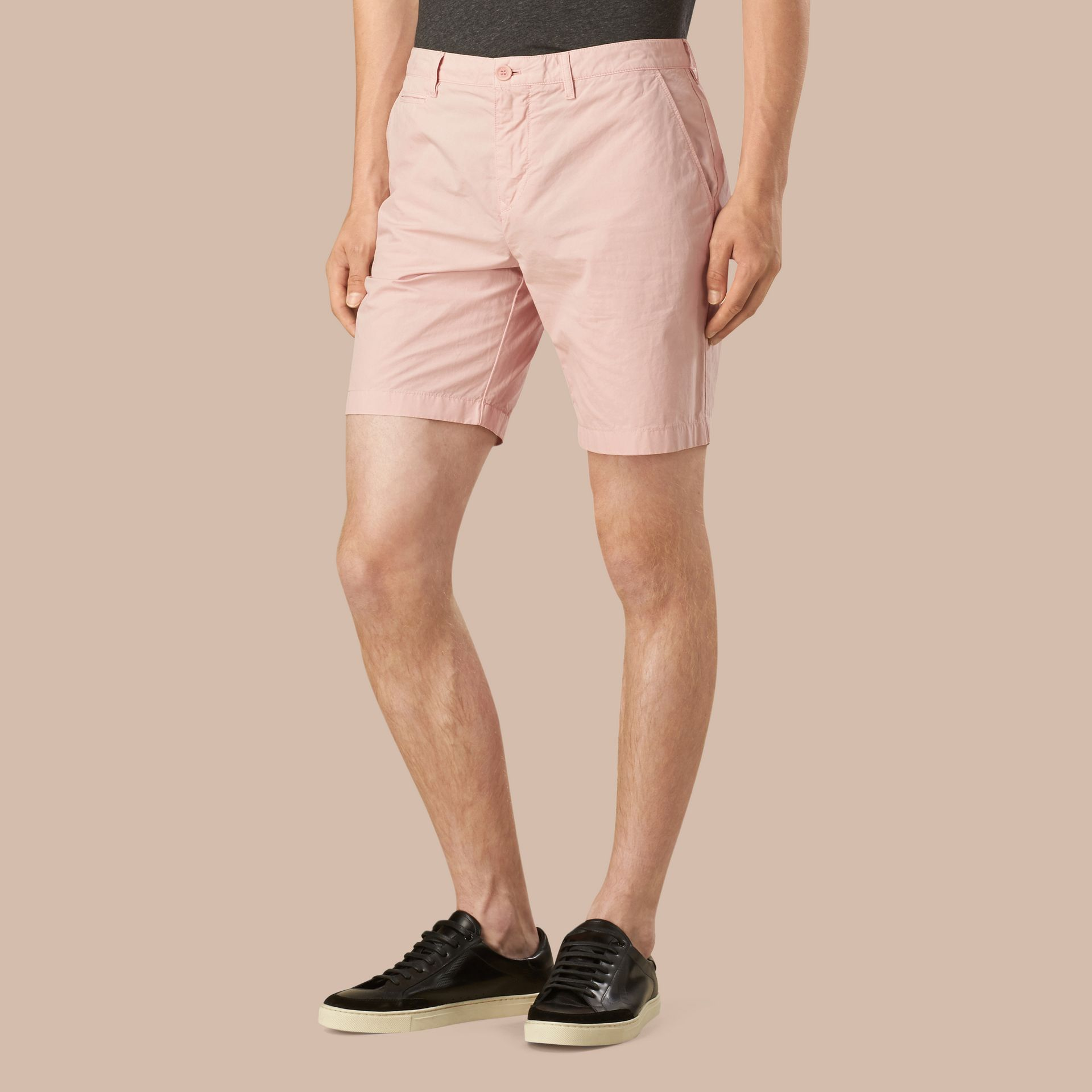 Chalk pink Cotton Poplin Chino Shorts Chalk Pink - gallery image 1