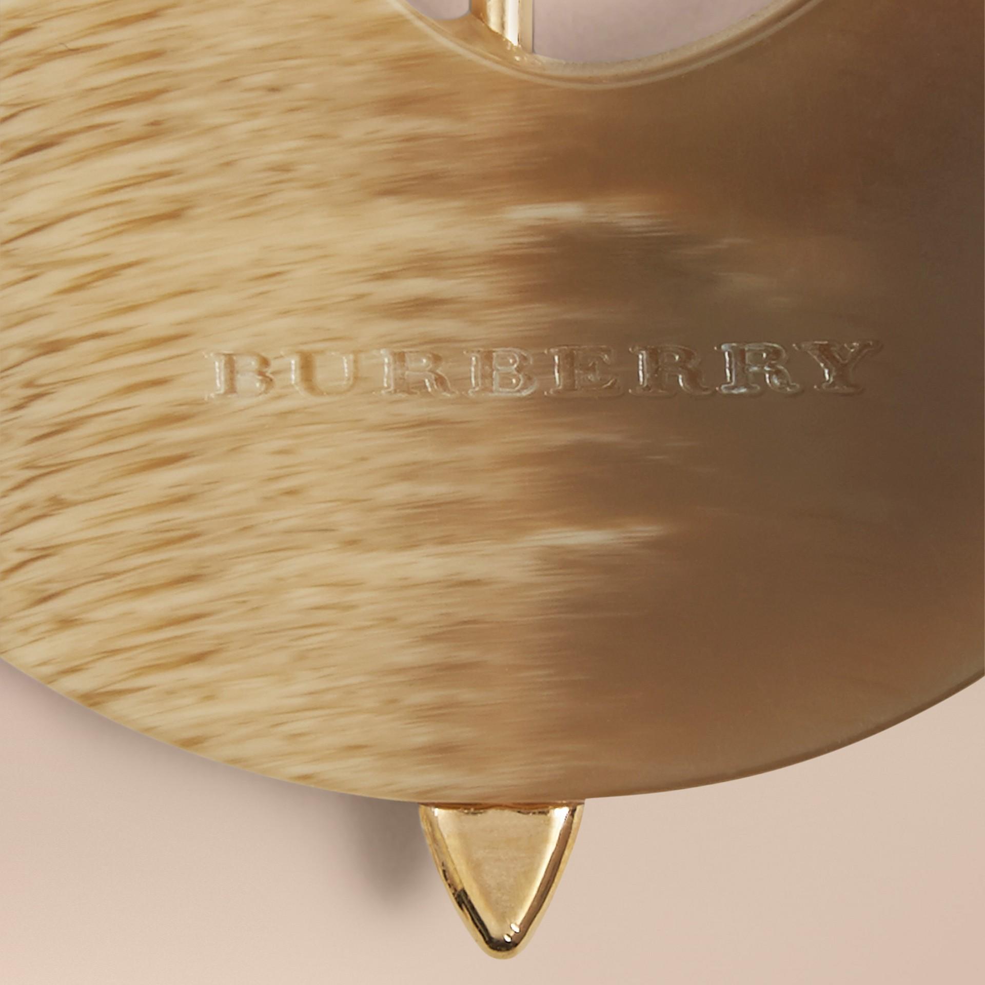 Naturale Ciondolo portachiavi icona britannica effetto corno a forma di ombrello - immagine della galleria 2