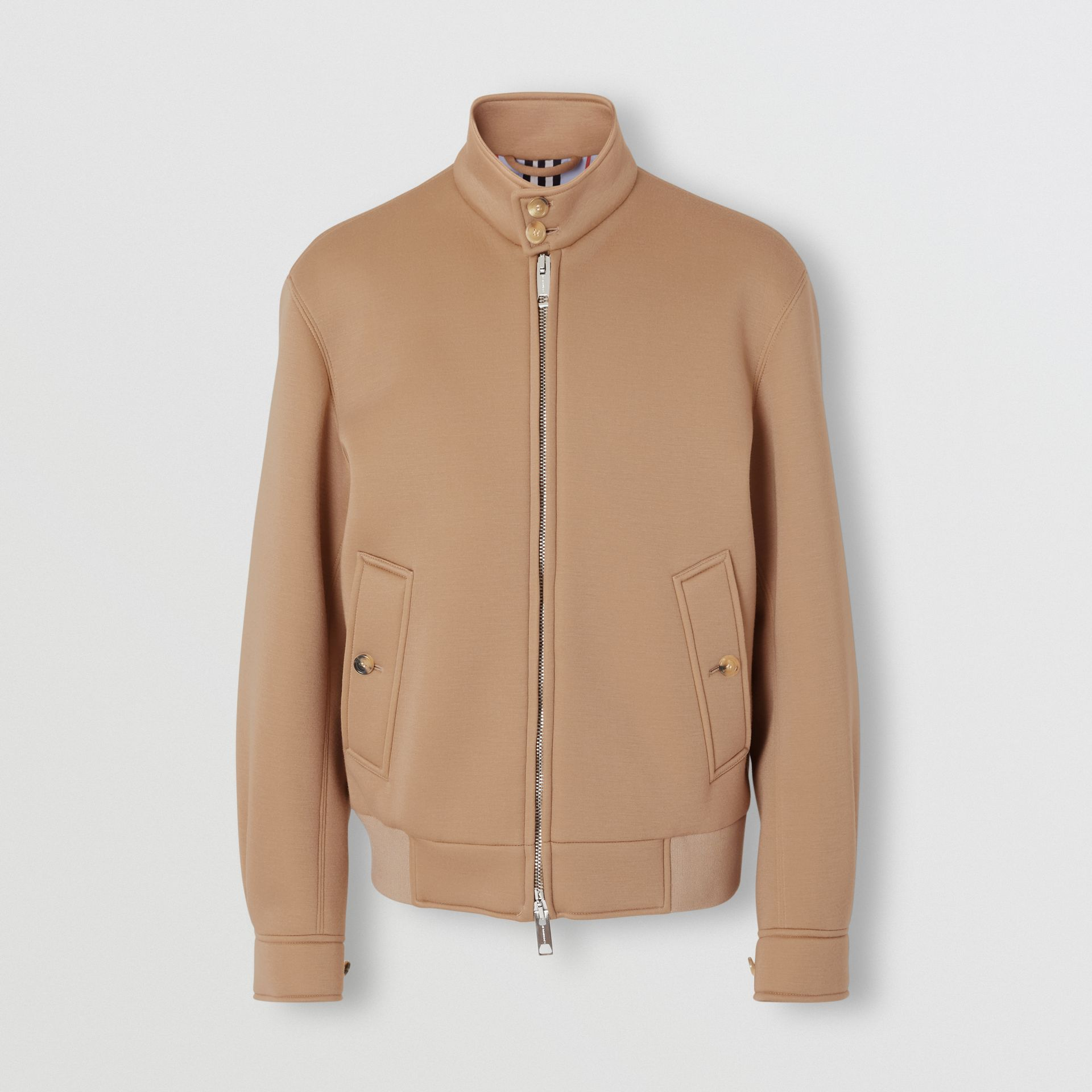 Neoprene Harrington Jacket in Beige | Burberry - gallery image 3