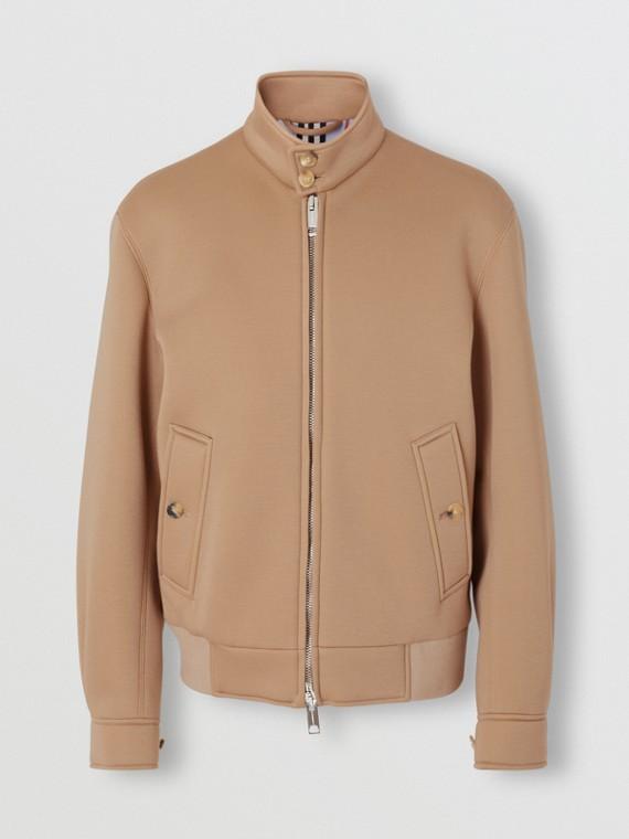 Neoprene Harrington Jacket in Beige