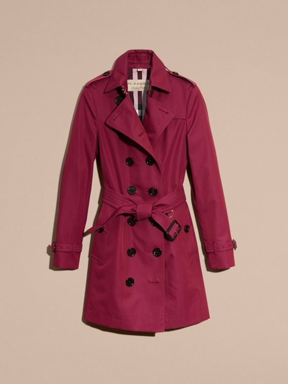 Damson pink Cotton Gabardine Trench Coat Damson Pink - cell image 3