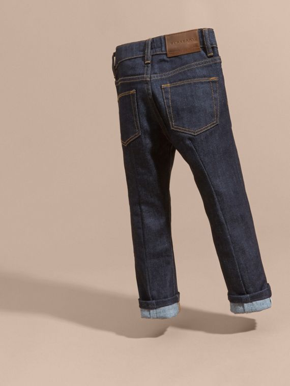 Skinny Fit Indigo Jeans in Dark - Girl | Burberry United Kingdom - cell image 3