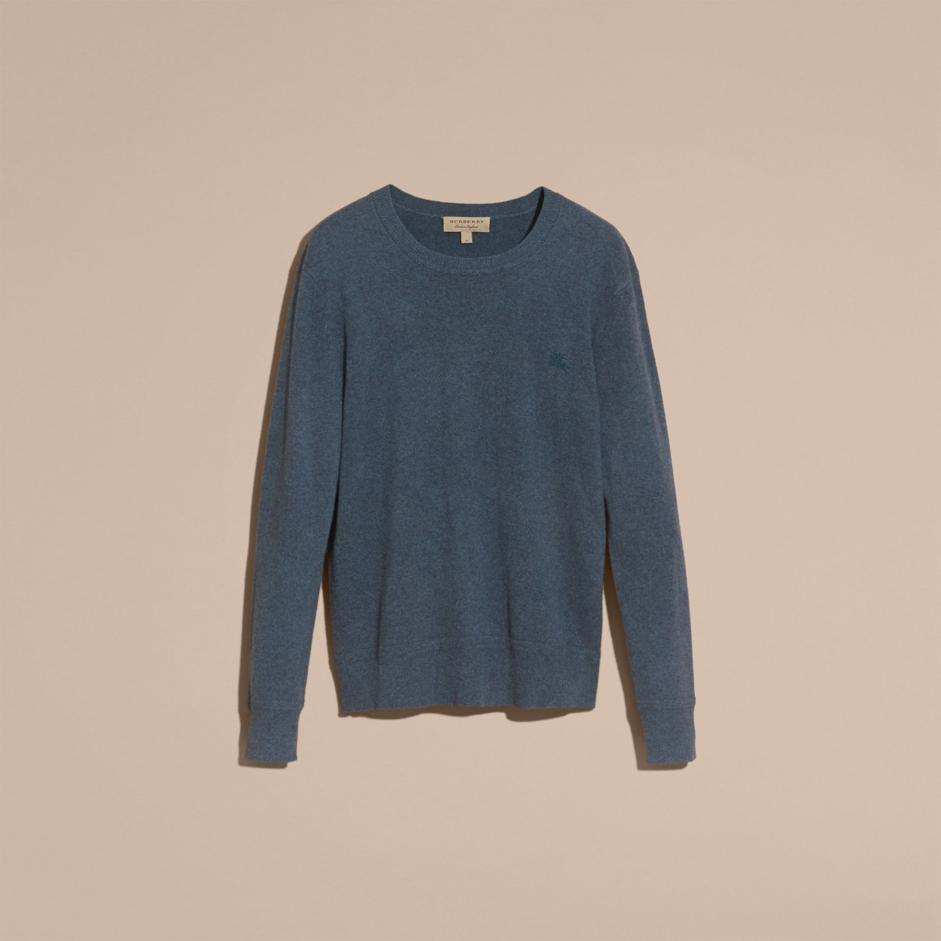 Airforce blue Crew Neck Cashmere Sweater Airforce Blue - gallery image 4