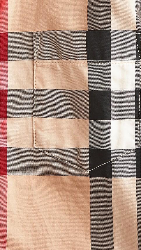 Nouveau check classique Chemise en coton check à col américain - Image 3