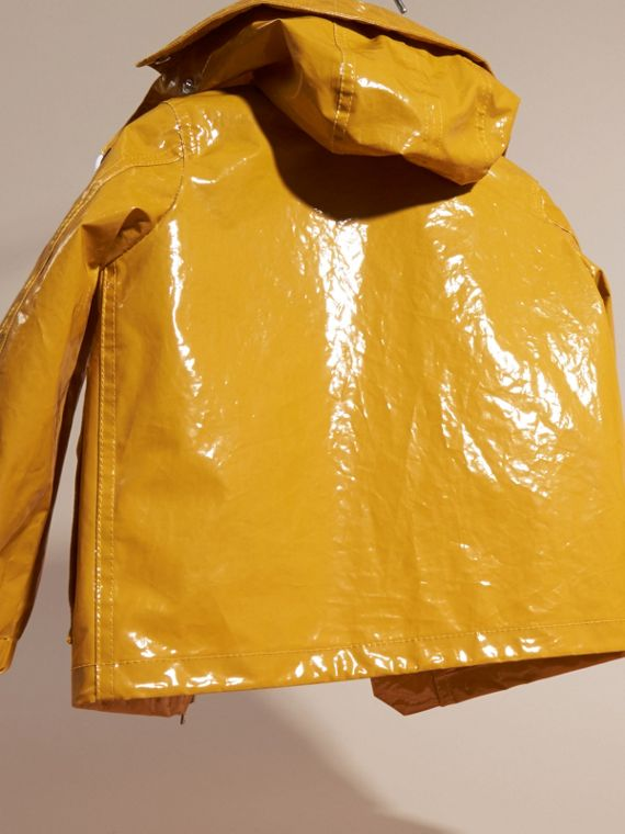 Glossy Showerproof Jacket with Detachable Hood - cell image 3