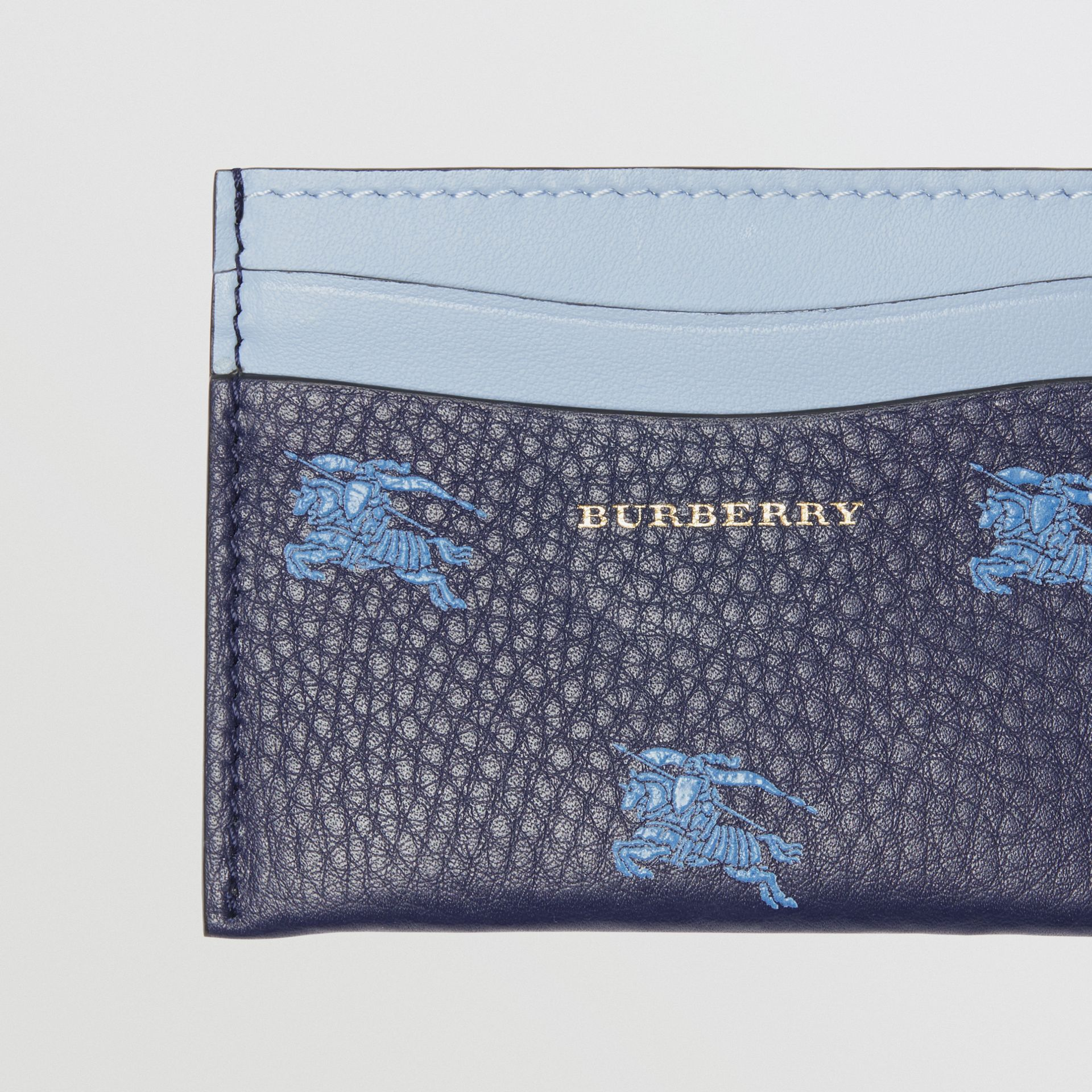 EKD Leather Card Case in Regency Blue - Women | Burberry United States - gallery image 1