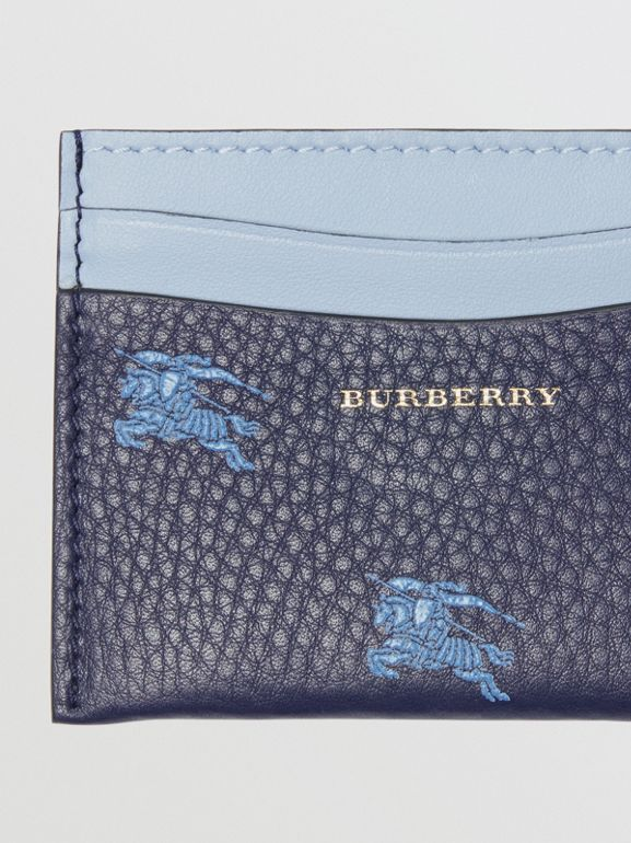 EKD Leather Card Case in Regency Blue - Women | Burberry - cell image 1