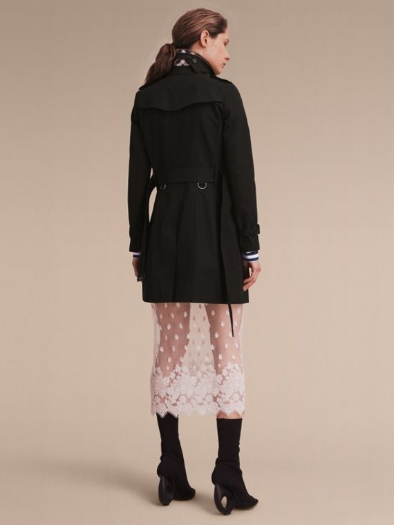 The Chelsea – Mid-length Heritage Trench Coat in Black - cell image 2