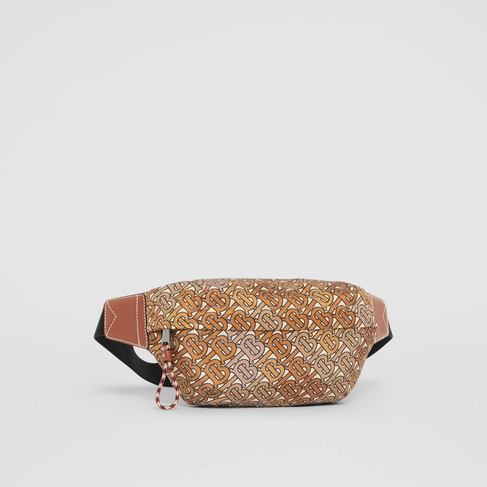 Medium Monogram Print Bum Bag in Camo Brown - Men | Burberry - gallery image 8