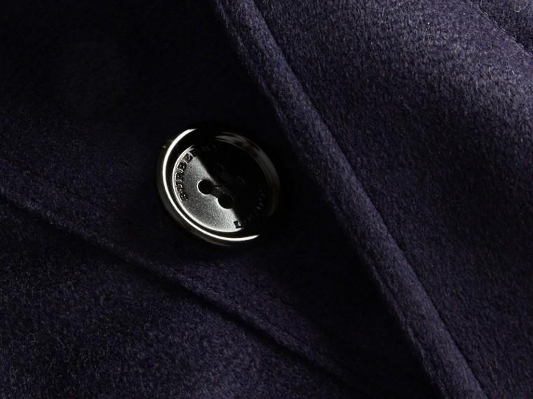 Indigo Sandringham Fit Cashmere Trench Coat Indigo - cell image 1