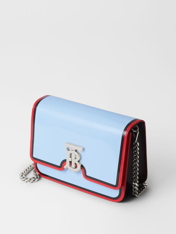 Small Painted Edge Leather TB Bag in Pale Blue - Women | Burberry United States - cell image 3