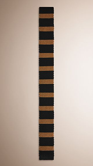 Slim Cut Striped Knitted Silk Tie