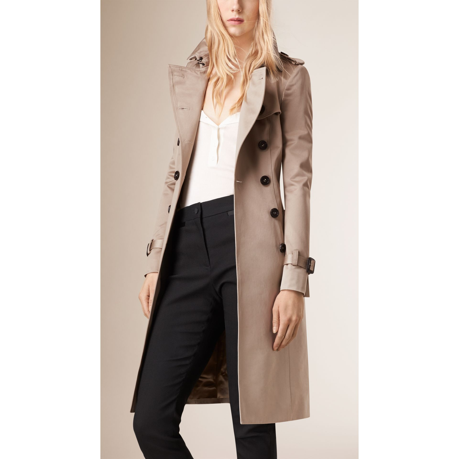 Trench Cotton Sateen Trench Coat  - gallery image 6