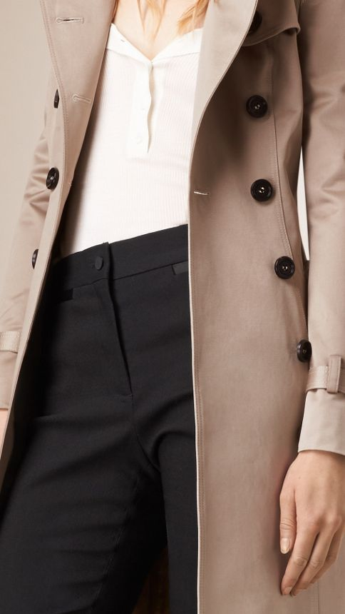 Trench Cotton Sateen Trench Coat  - Image 6