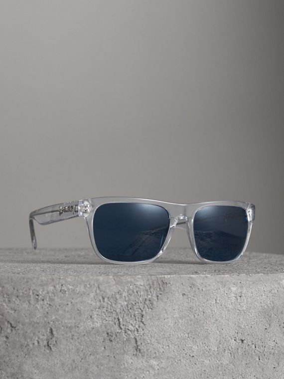 Doodle Square Frame Sunglasses in Crystal