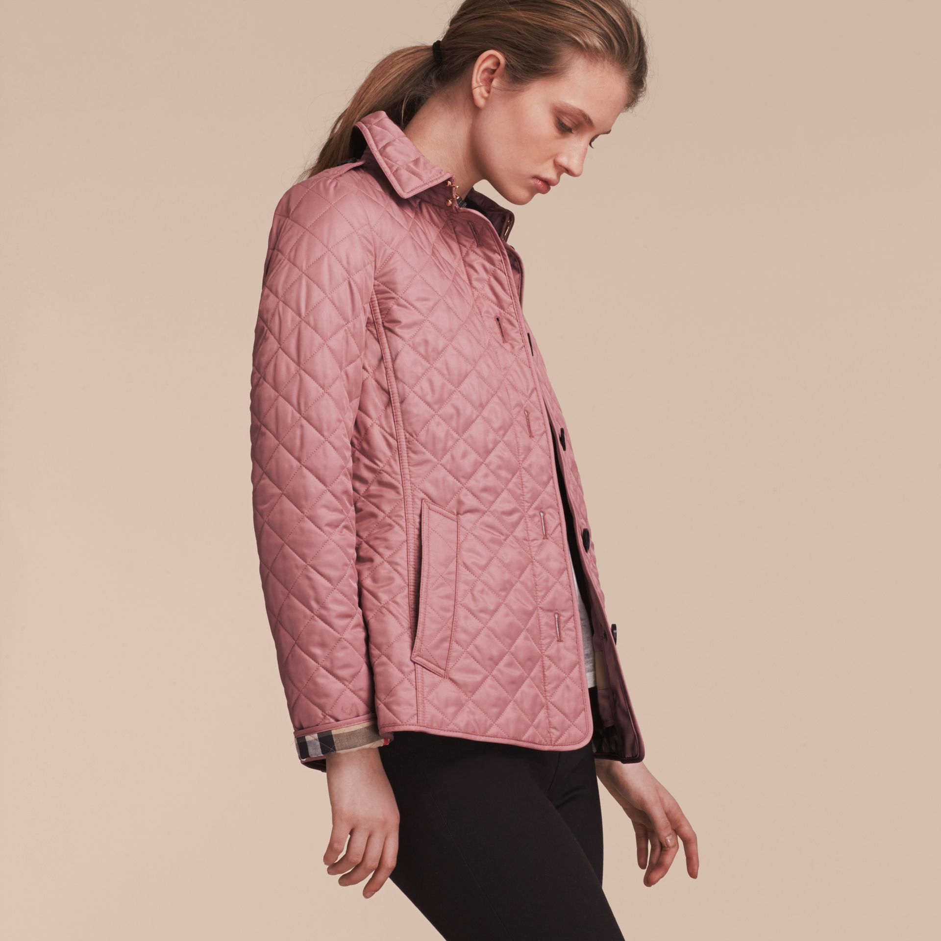 Diamond Quilted Jacket in Vintage Rose - gallery image 6