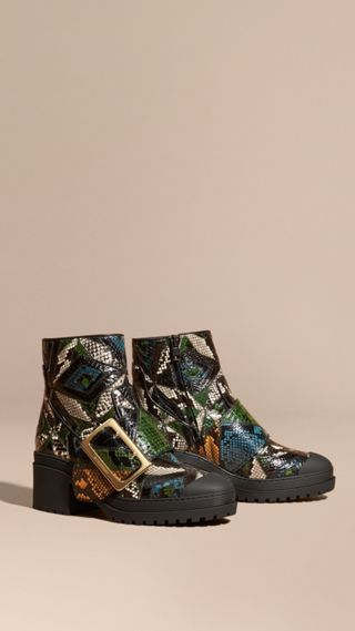 The Buckle Boot in Snakeskin