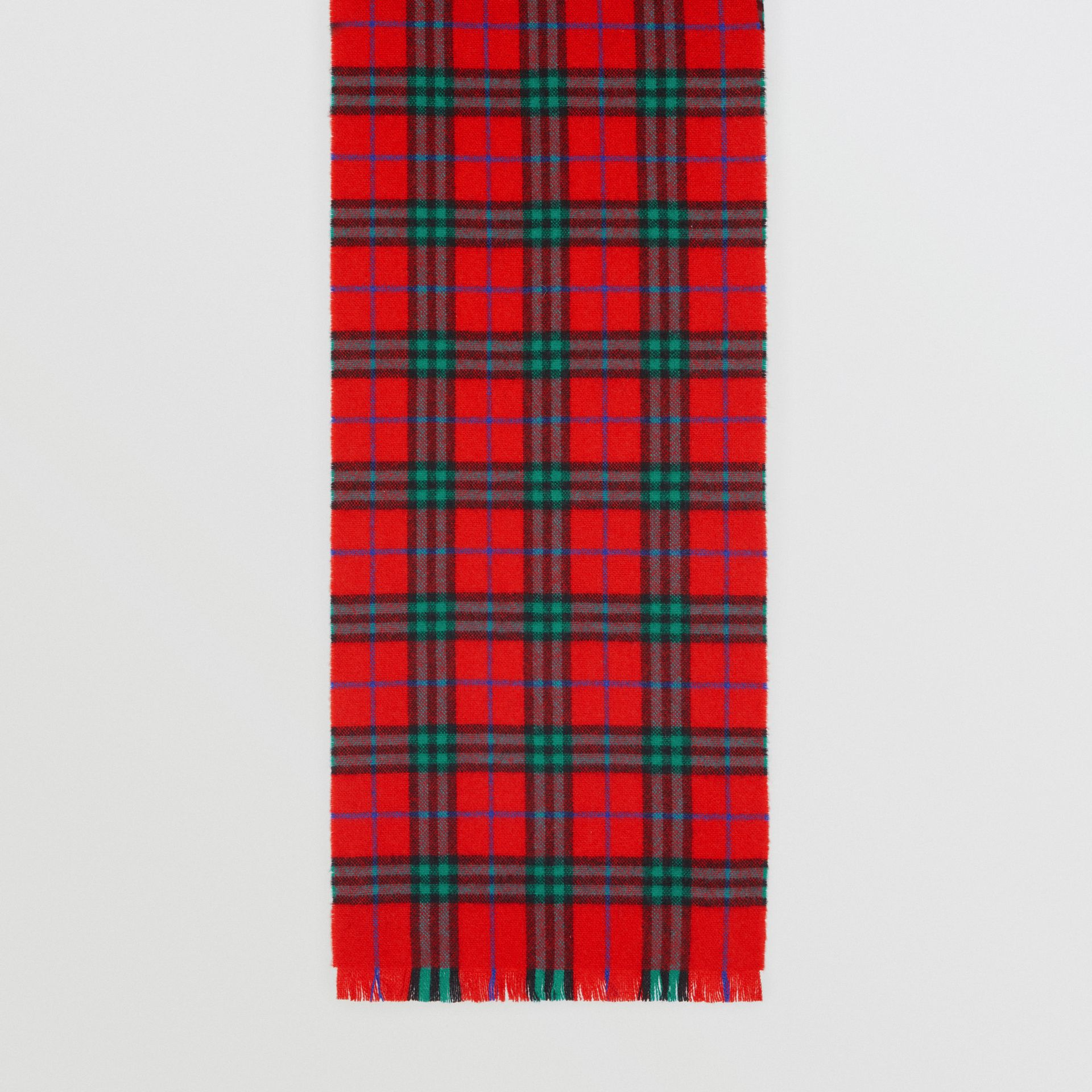 Check Cashmere Scarf | Burberry Singapore - gallery image 4