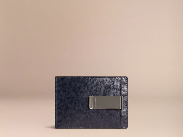 Dark navy London Leather Money Clip Card Case Dark Navy - cell image 1