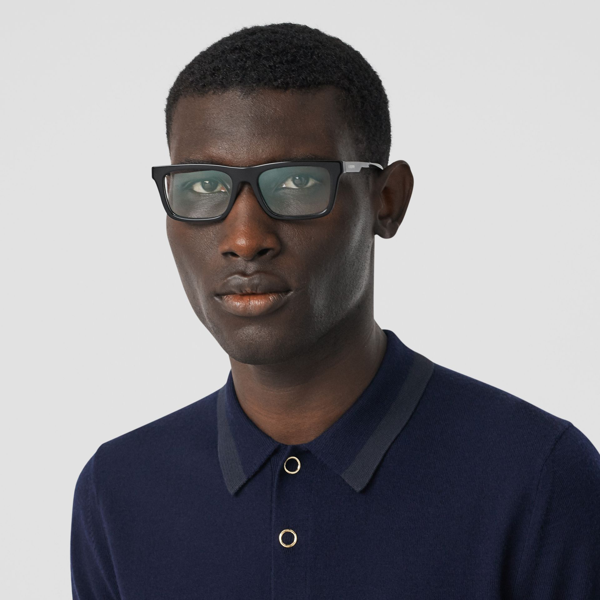 Rectangular Optical Frames in Black - Men | Burberry Hong Kong S.A.R - gallery image 2