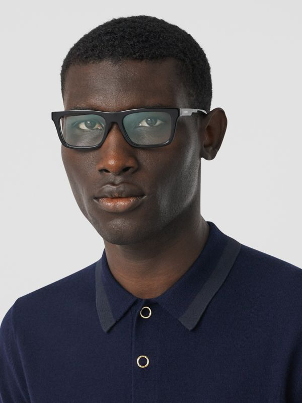 Rectangular Optical Frames in Black - Men | Burberry Hong Kong S.A.R - cell image 2