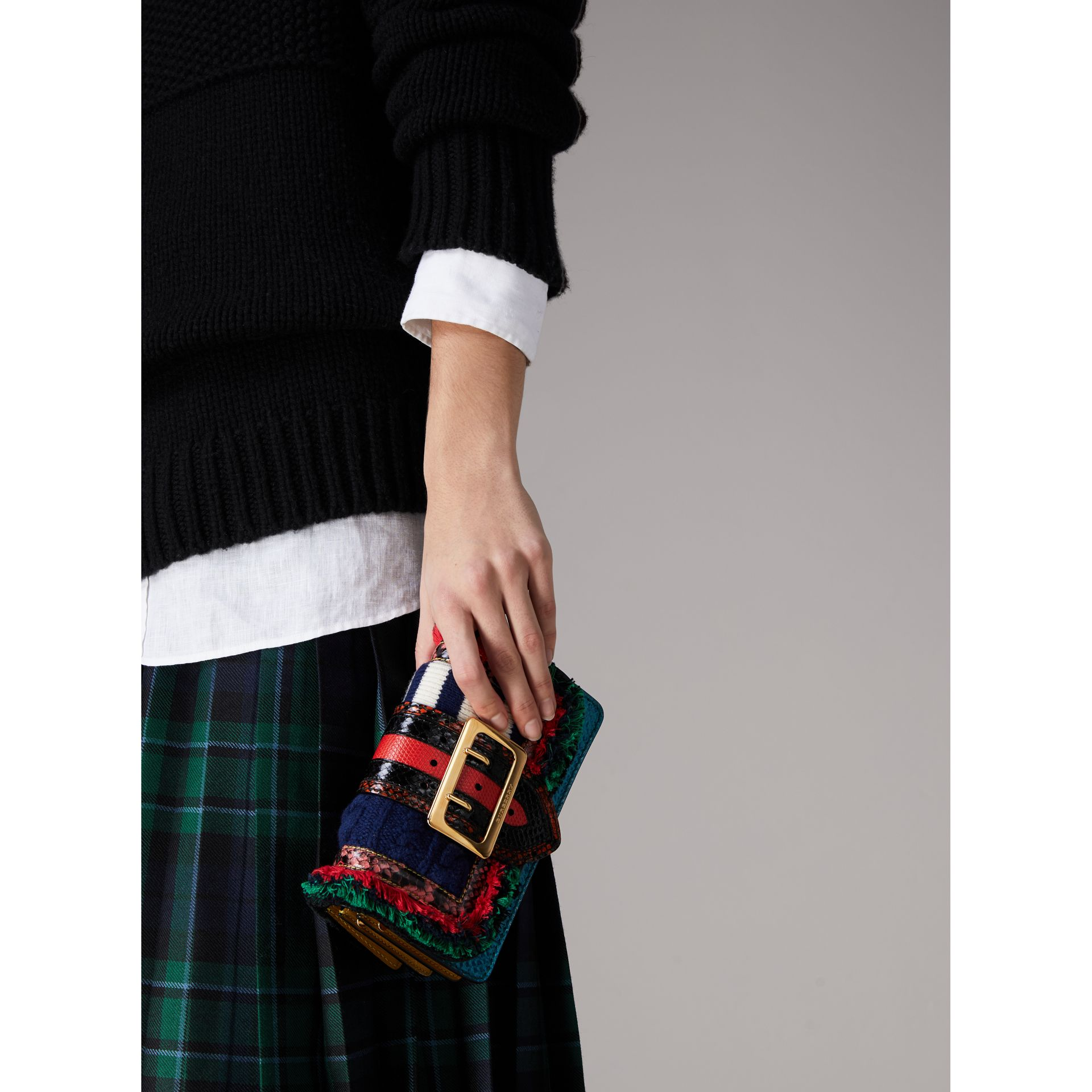 The Patchwork in Exotics and Knitted Wool in Multicolour - Women | Burberry Australia - gallery image 3