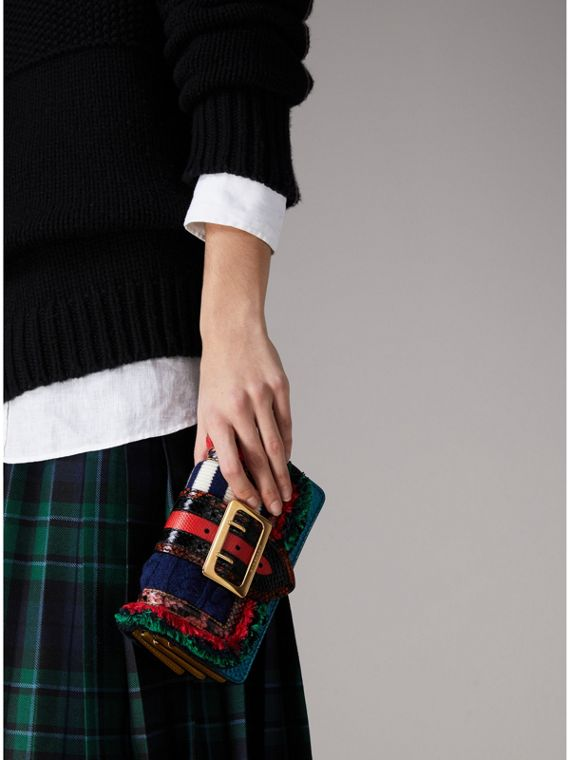 The Patchwork in Exotics and Knitted Wool in Multicolour - Women | Burberry Australia - cell image 3