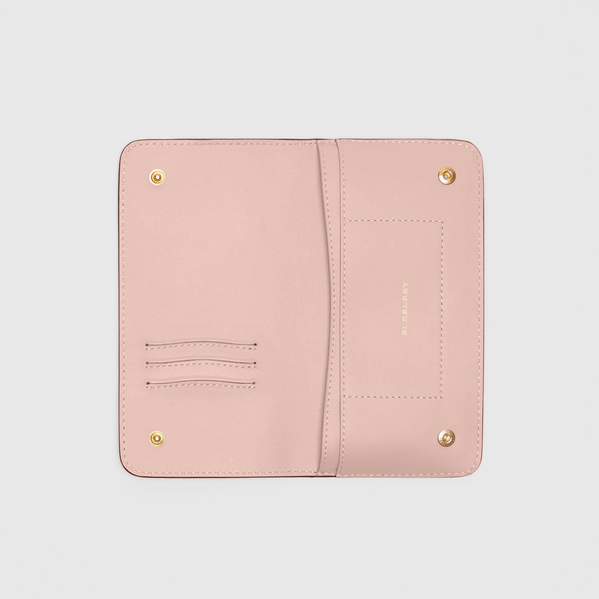 Leather Phone Wallet in Ash Rose - Women | Burberry United States - gallery image 2