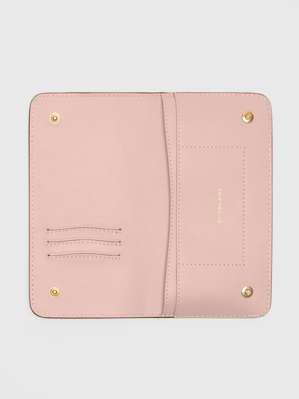Leather Phone Wallet in Ash Rose - Women | Burberry United States - cell image 2