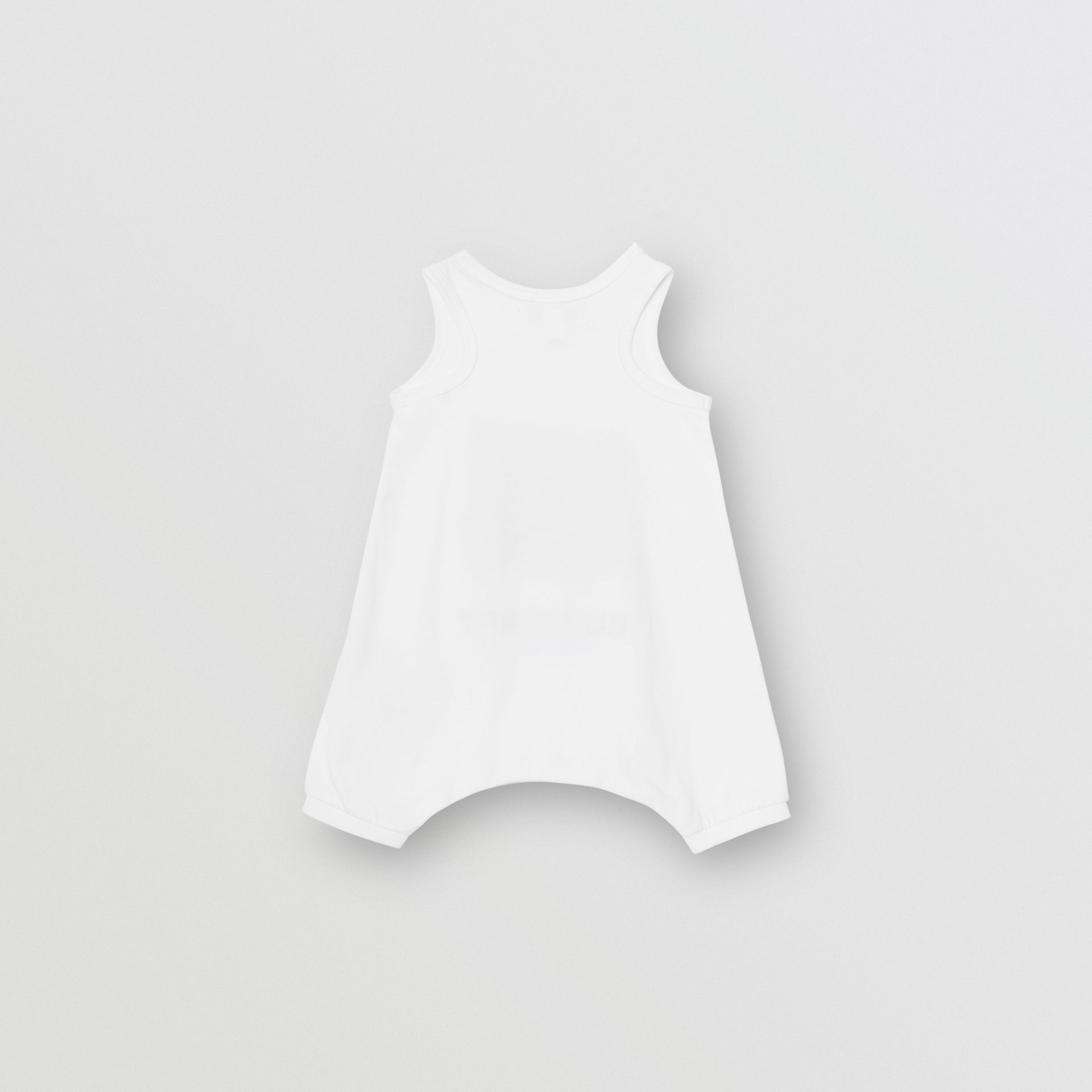 Vintage Photo Print Cotton Bodysuit in White - Children | Burberry - gallery image 3