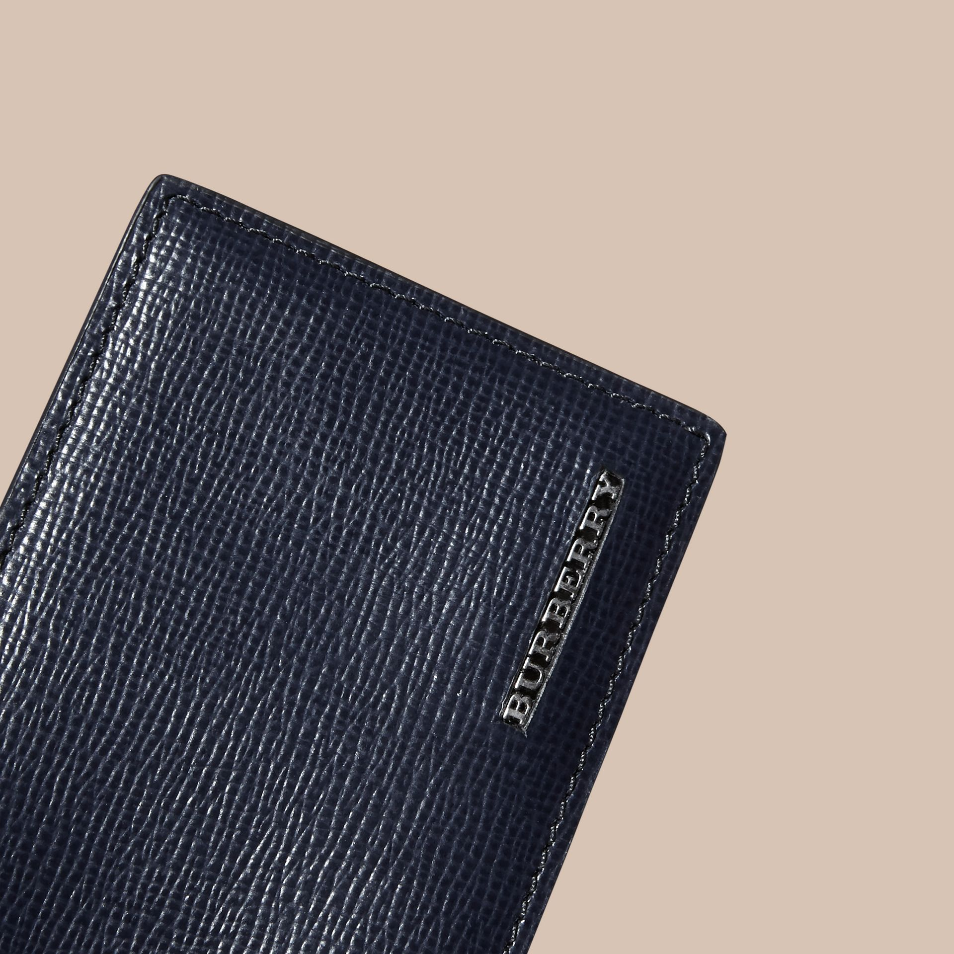London Leather ID Wallet in Dark Navy - gallery image 2