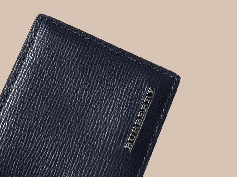 London Leather ID Wallet Dark Navy - cell image 1