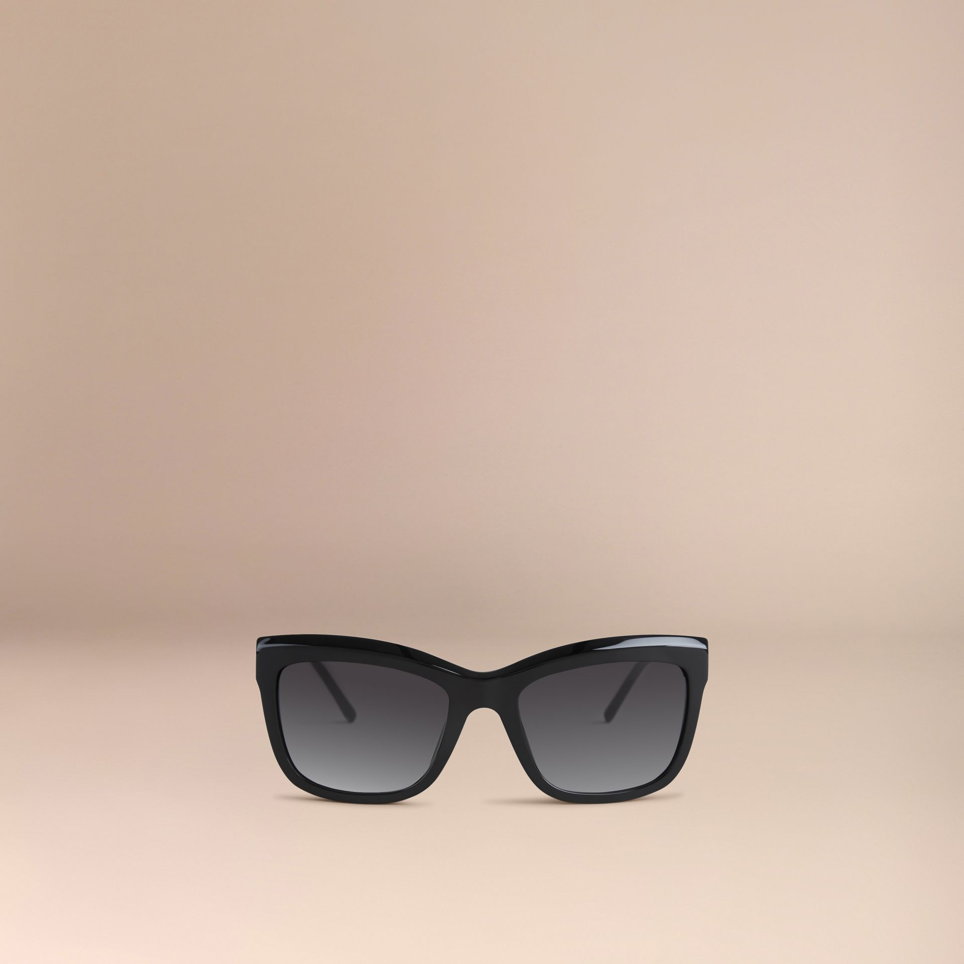 Black Gabardine Lace Collection Square Frame Sunglasses Black - gallery image 3