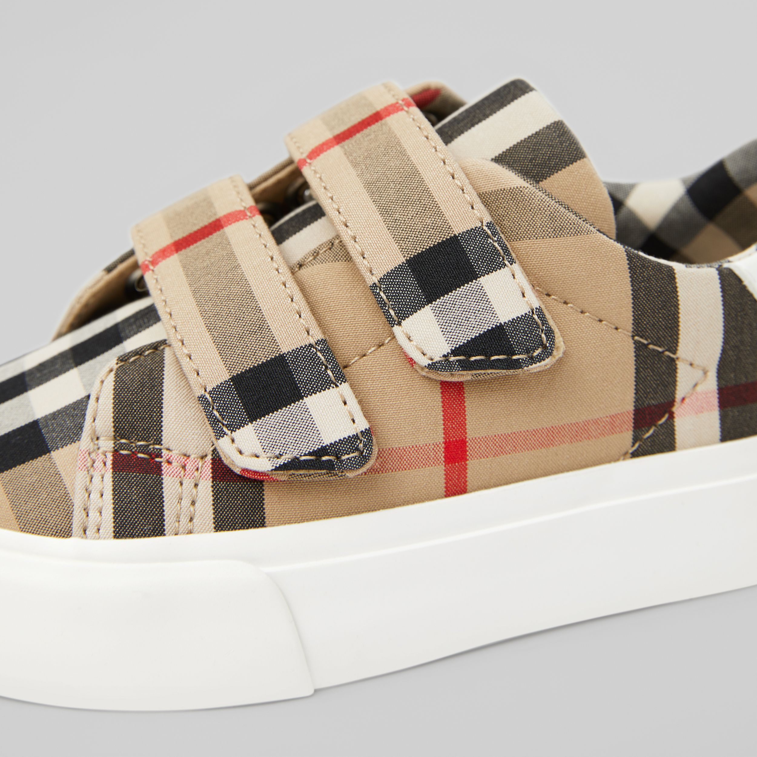 Vintage Check Cotton Sneakers in Archive Beige - Children | Burberry Australia - 2