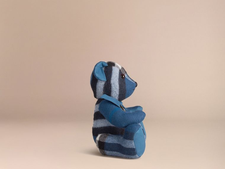 Marine blue Thomas Bear in Check Cashmere Marine Blue - cell image 2