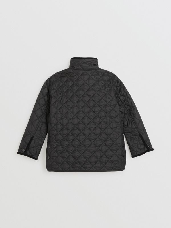 Lightweight Diamond Quilted Jacket in Black | Burberry United States - cell image 3