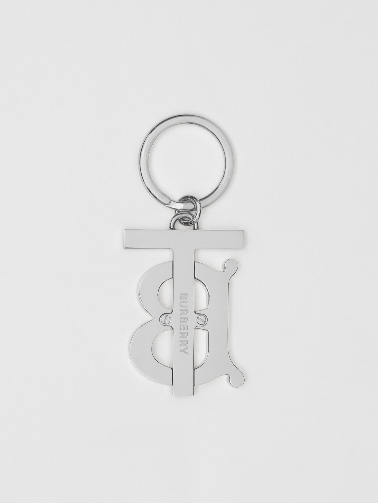 Monogram Motif Palladium-plated Key Charm (Rose Beige)