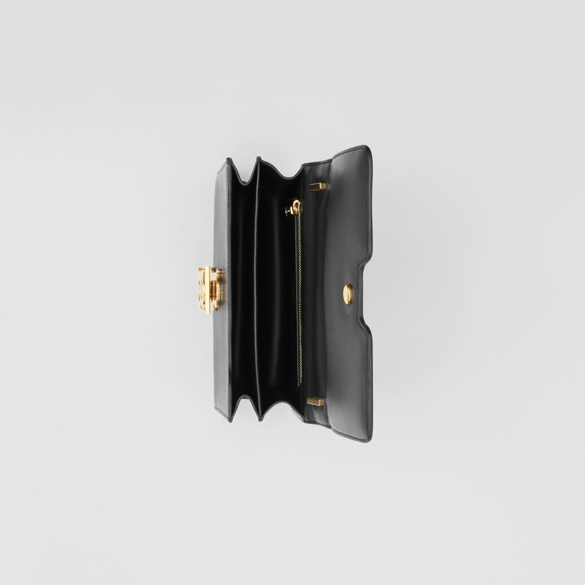 Small Grainy Leather TB Bag in Black - Women | Burberry - gallery image 4