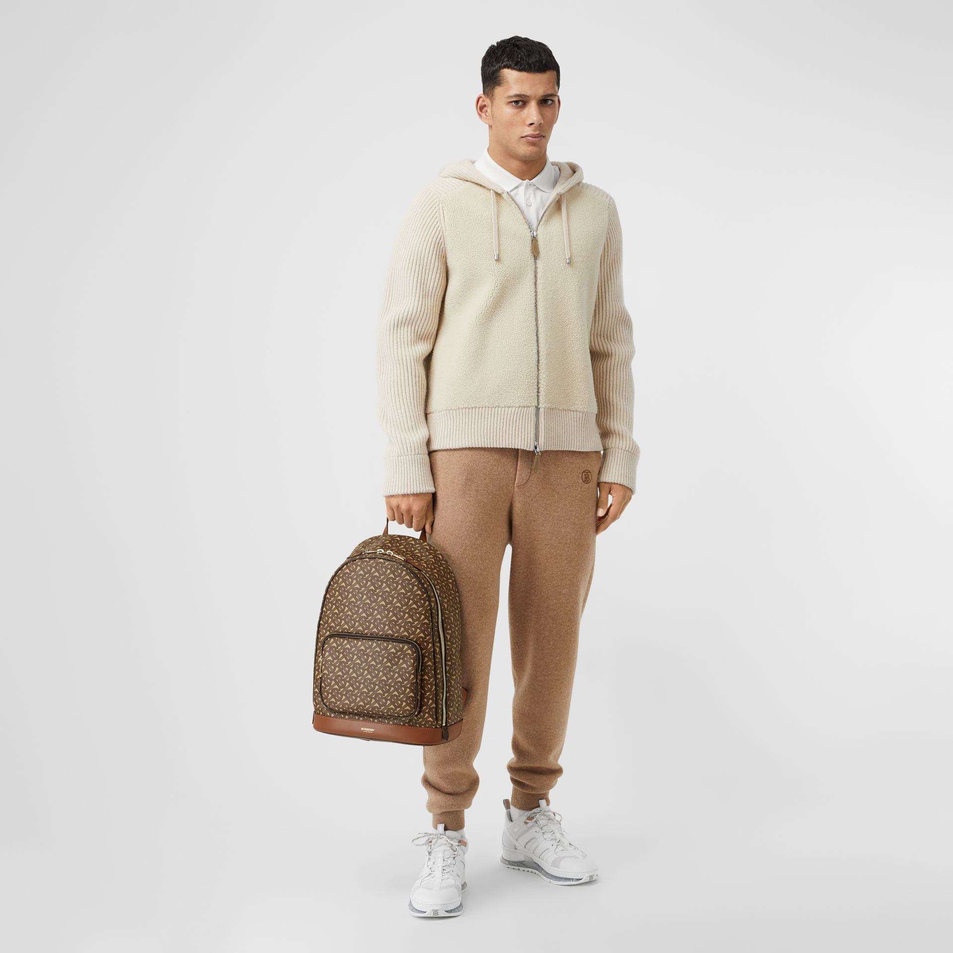 Monogram Print E-canvas and Leather Backpack in Bridle Brown - Men | Burberry - gallery image 10
