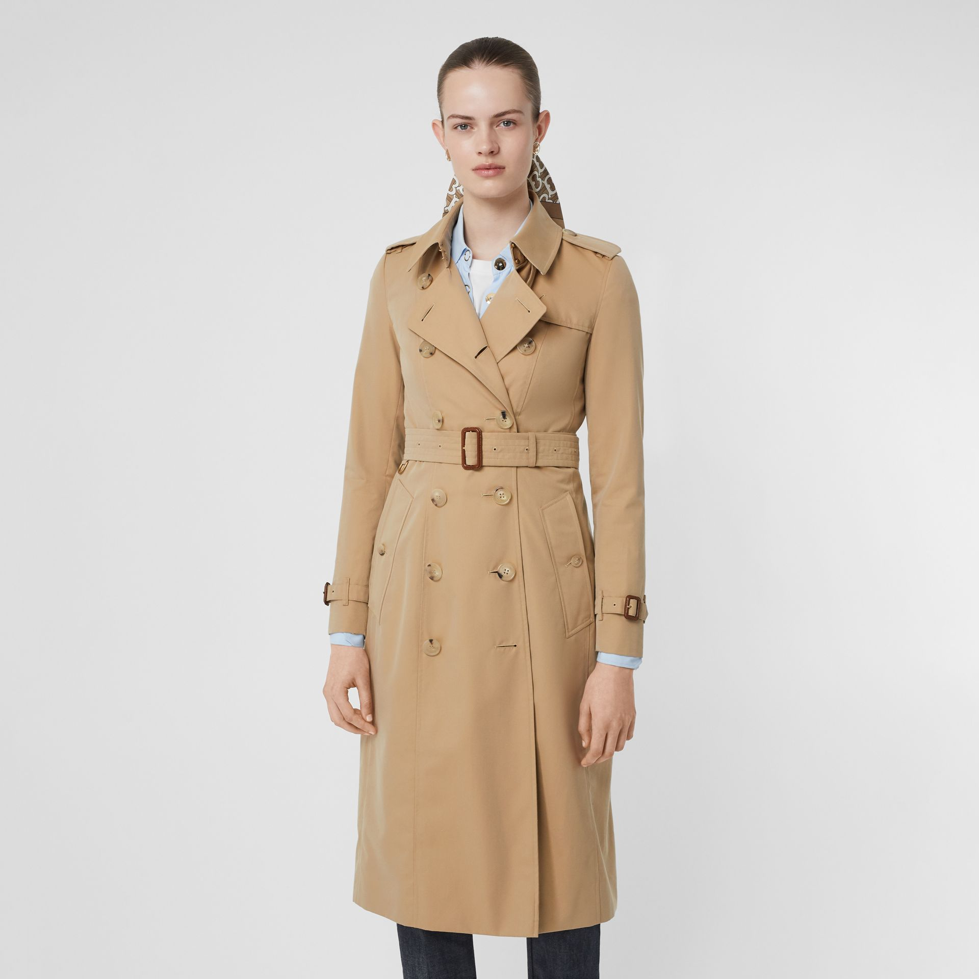 The Chelsea – Trench Heritage long (Miel) - Femme | Burberry - photo de la galerie 7