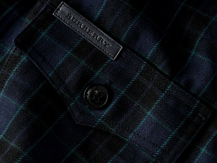 Bright navy Black Watch Check Wool Blend Shirt Bright Navy - cell image 1