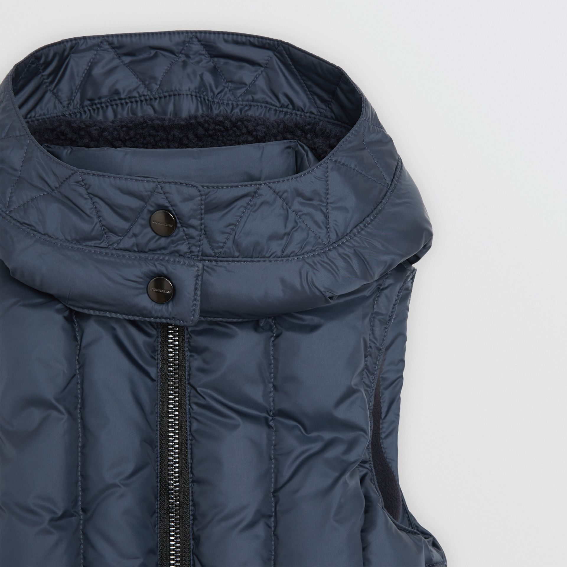 Detachable Hood Down-filled Gilet in Navy | Burberry - gallery image 4