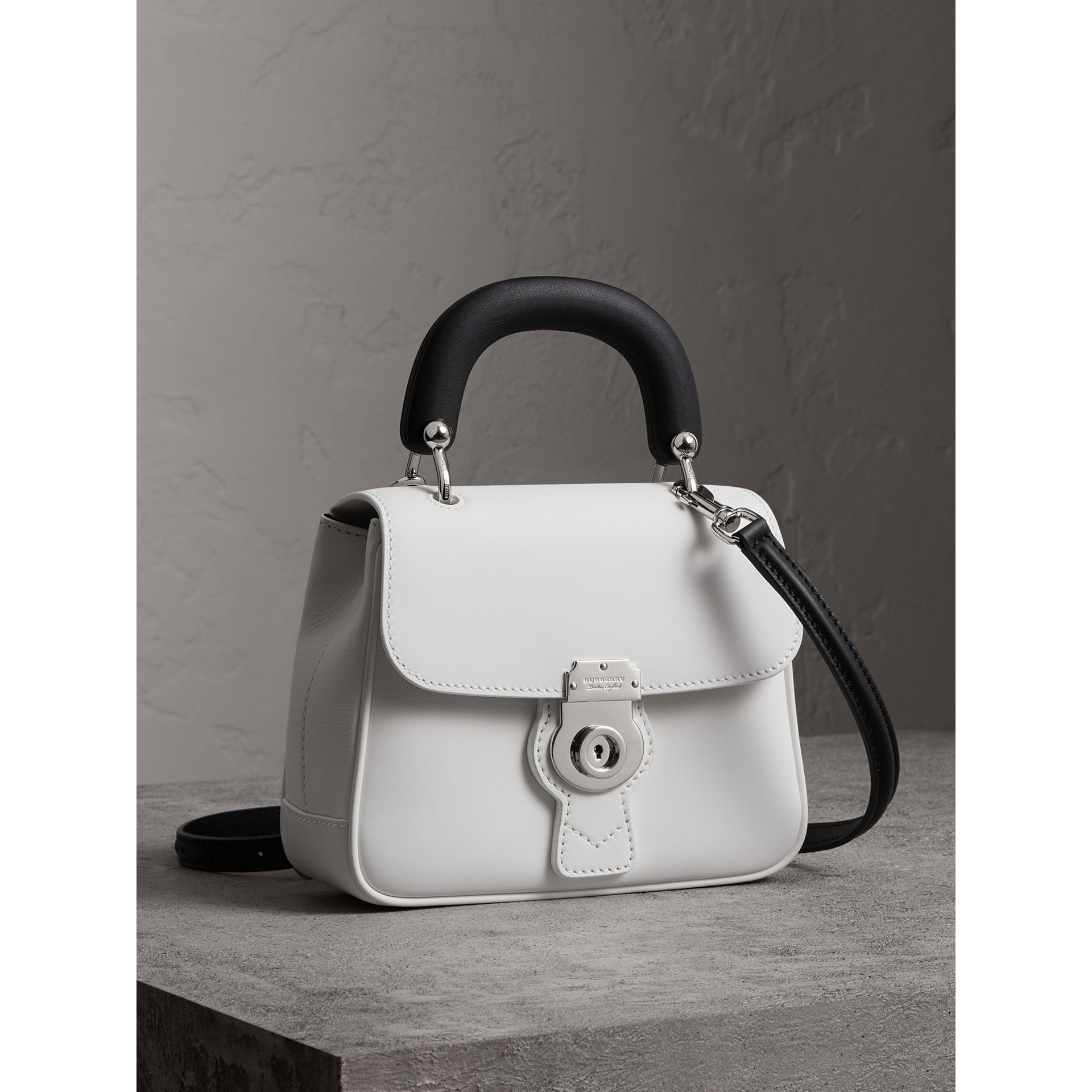 The Small DK88 Top Handle Bag in Chalk White - Women | Burberry - gallery image 6